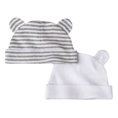 3195e1bc795 Circo® Newborn 2 Pack Bear Ears Hat - Gray - tiny newborns need to cover up  for a bit