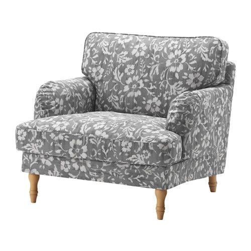 STOCKSUND Sessel, Remvallen blau weiß, schwarz Holz Sessel, Ikea - wohnzimmer blau holz