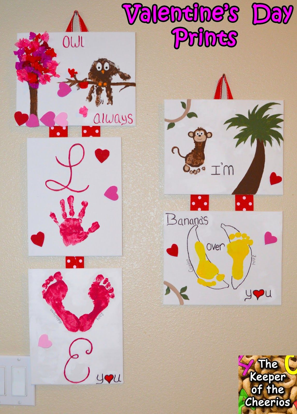 The Keeper Of The Cheerios Valentines Day Hand And Footprint Craft