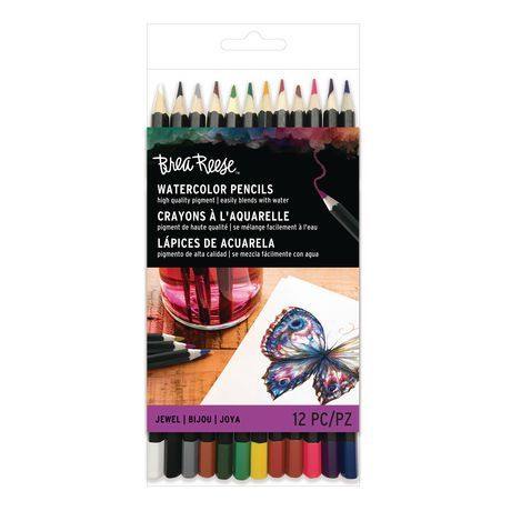 Momenta Inc Brea Reese Watercolor Pencils 12pc Set Jewel
