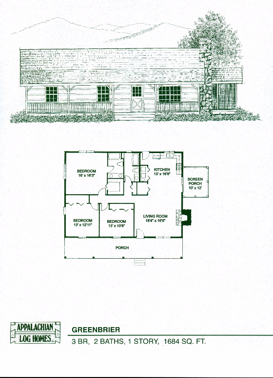 Greenbrier 3 Bed 2 Bath 1 Story 1684 Sq Ft