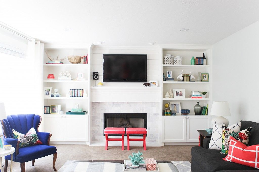 Fireplace Design fireplace etc : great before and after of built ins, renovated fireplace, etc ...