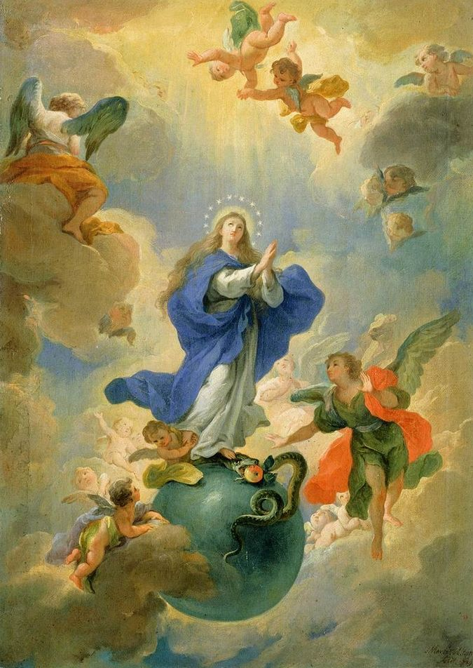 ALTOMONTE, Martino Austrian painter (b. 1657, Napoli, d. 1745, Wien) The Immaculate Conception 1719 Oil on canvas, 39 x 57 cm Narodna galerija Slovenije, Ljubljana
