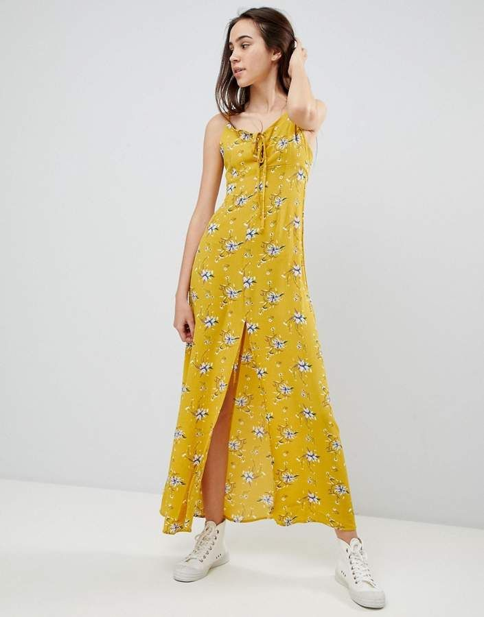 70884a9ec0 Brave Soul Poppy Maxi Dress with Tie Detail