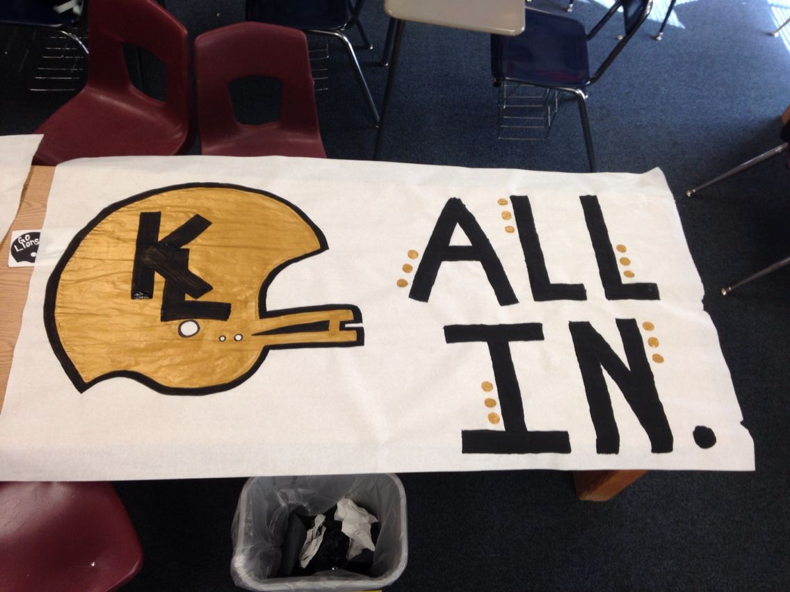 Football playoffs sign!