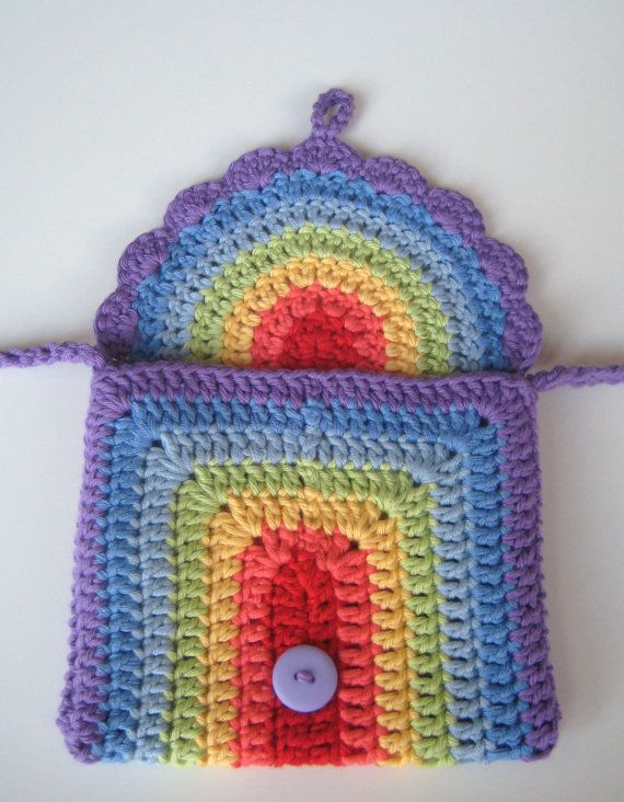 Crochet bag Pattern Rainbow purse bag INSTANT DOWNLOAD PDF, girl ...