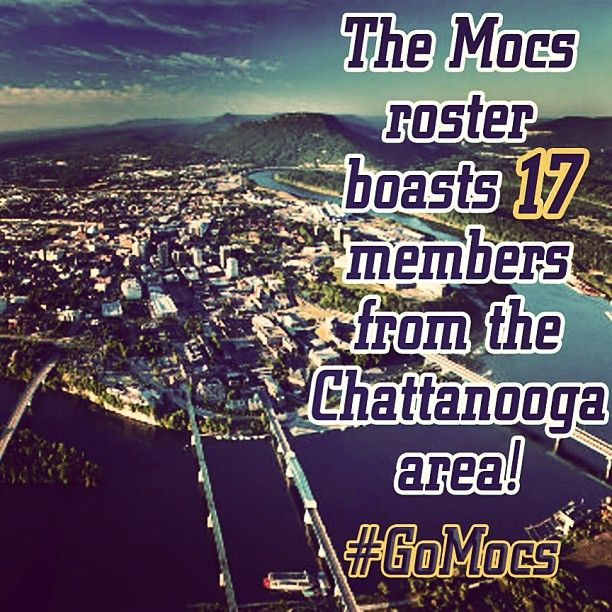 8/12/13 - 17 day until kickoff! Did you know, the Mocs 2013-14 roster boasts 17 members from the Chattanooga area! #GoMocs