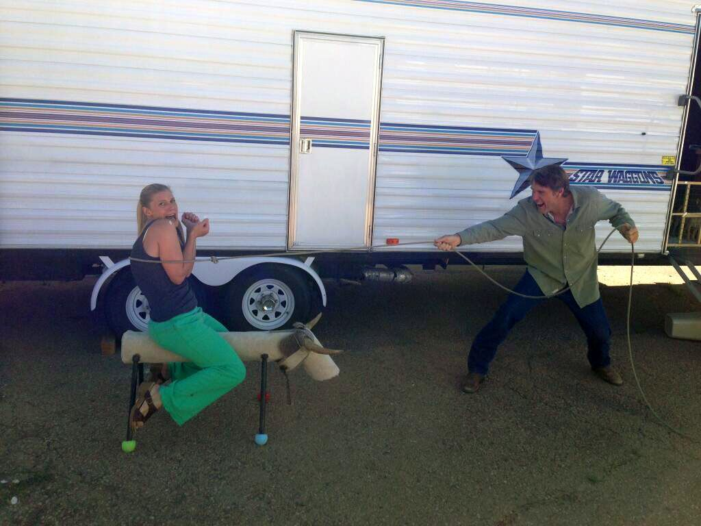 Katee Sackhoff And Robert Taylor. #Longmire
