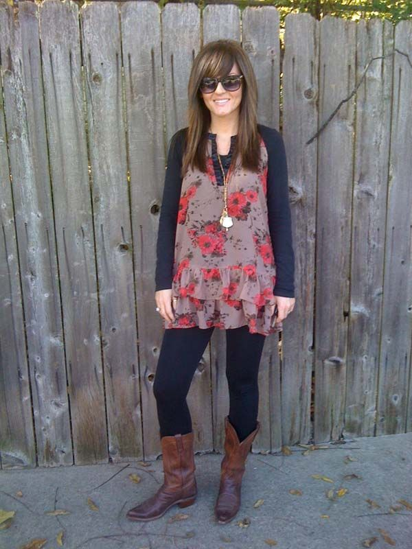 dresses with cowboy boots women