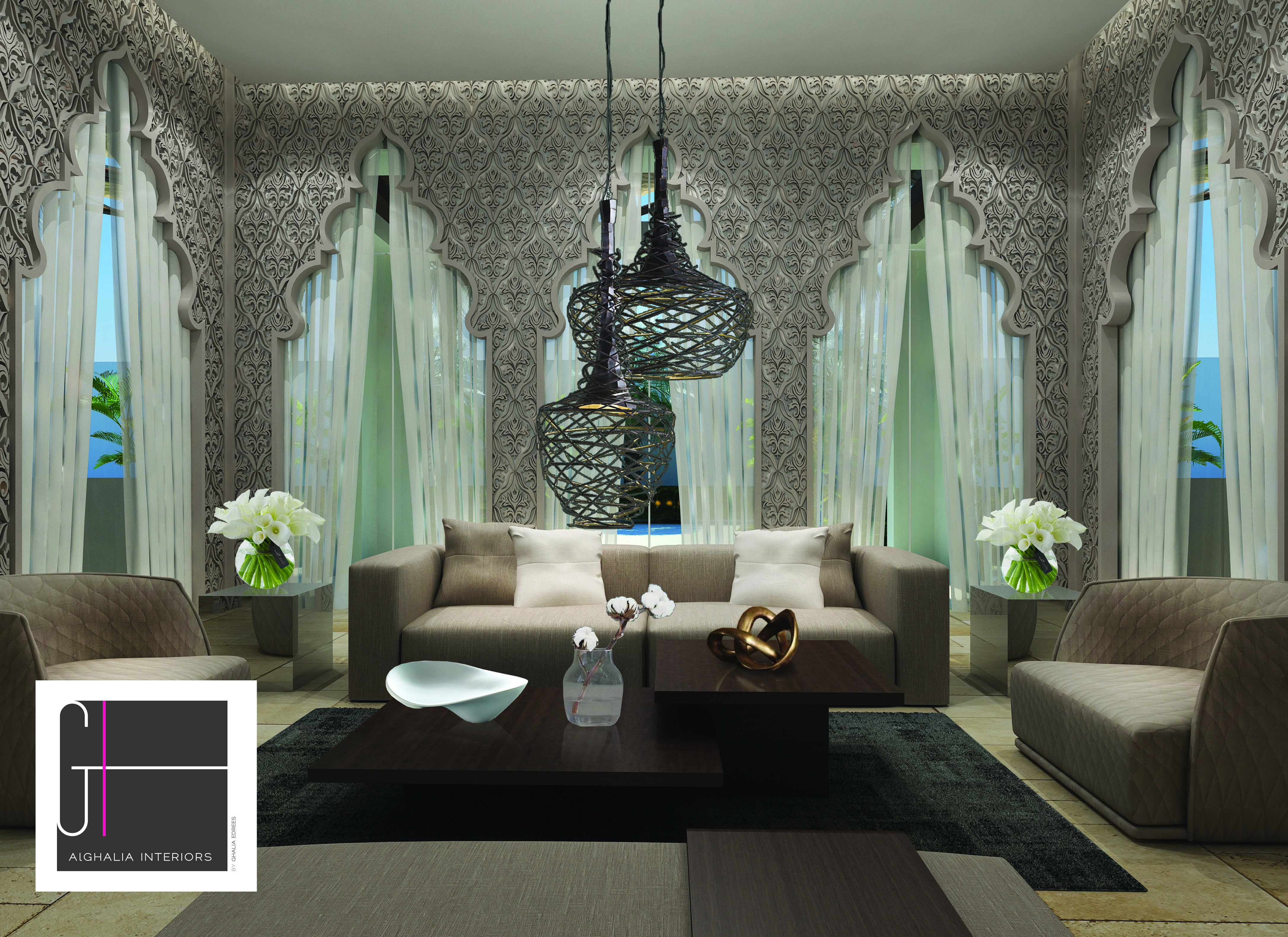 #andalusian #style #contemporaryislamic #interiordesign by  #alghaliainteriors #saudi #residential #