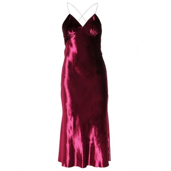 Marc Jacobs Panne-Velvet Gown (€800) ❤ liked on Polyvore featuring dresses, gowns, marc jacobs, red, marc jacobs evening gowns, marc jacobs dresses, red dress, marc jacobs gowns and purple evening gowns