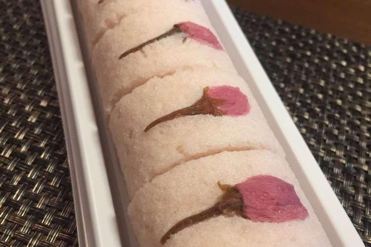 桜のかるかんロール レシピ・作り方 by にゃおこ先生 【クックパッド】