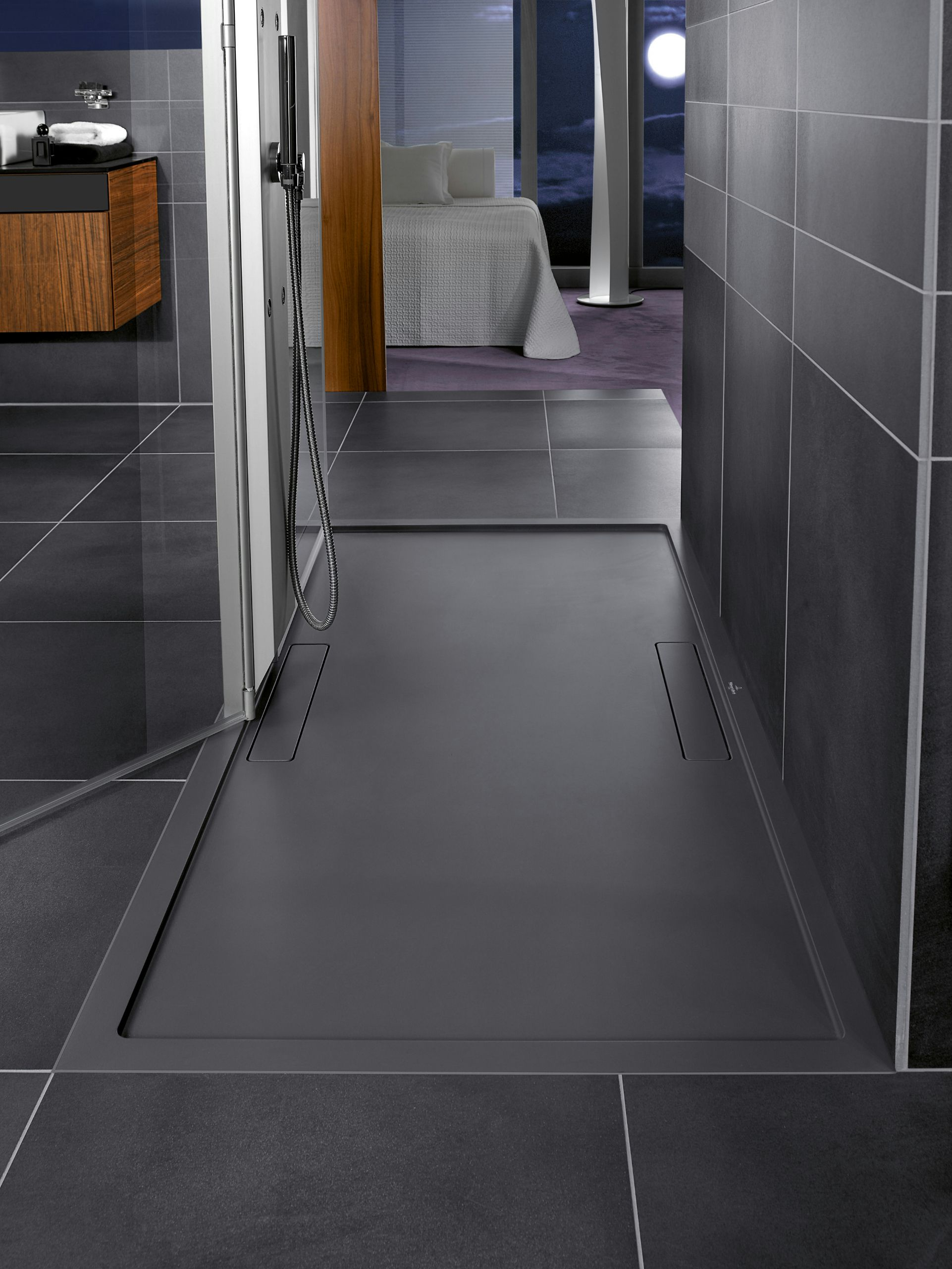 This gorgeous large shower tray by Villeroy is stunning - low level ...