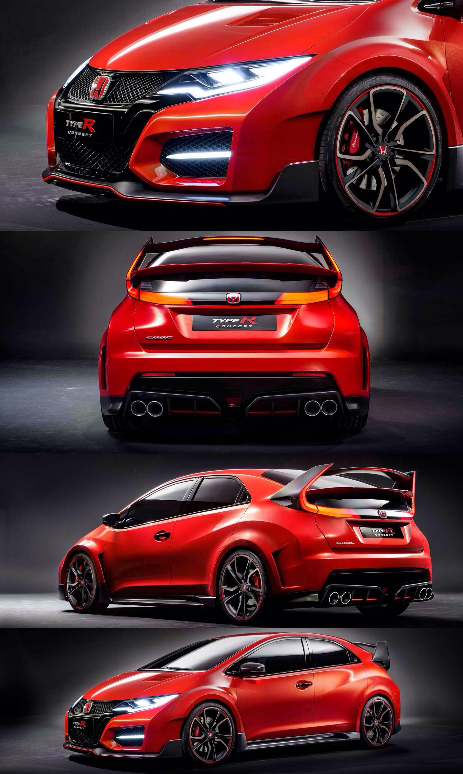 Update1 -- Honda Civic Type R Concept is 5-Door, 280HP Turbo Track Monster with LEDs To Die For ...