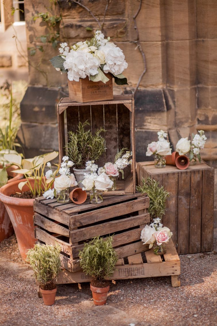 Outdoor crates Jesmond Dene House The Finishing Touch