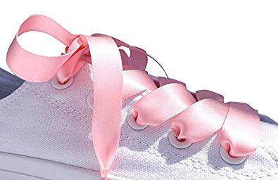Pink Flat Satin Ribbon Shoelaces