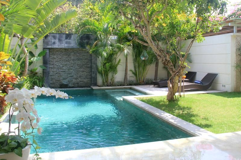 The private swimming pool with size 7,5 x 3,5 meters