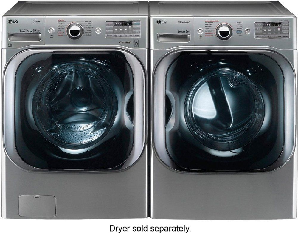 Lg 5 2 Cu Ft 14 Cycle Front Loading Washer With Steam Graphite