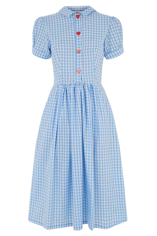 Tara Starlet 1940s 40s Style: Tara Starlet: The Dottie Dress - Blue Gingham