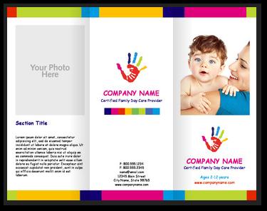 hand paint childcare brochures youprint