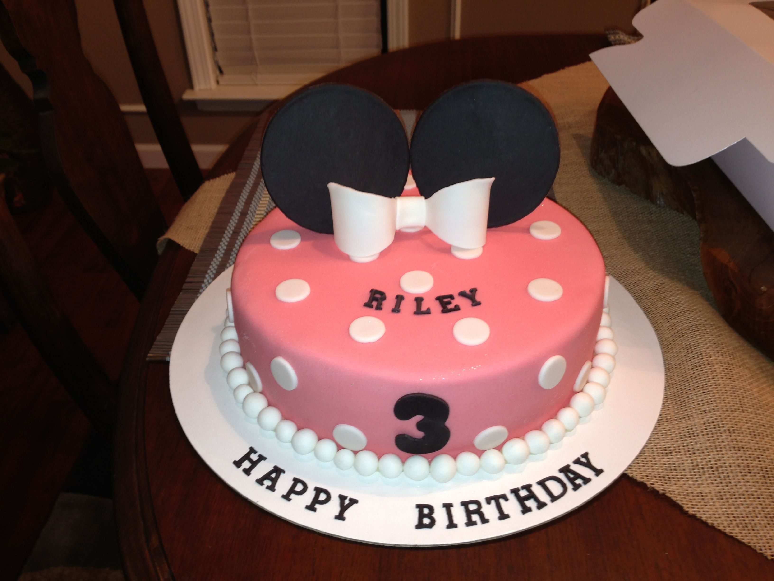 Remarkable Minnie Mouse Cake Made By Me 50 Cakes Of Gray M50Cakesofgray Personalised Birthday Cards Sponlily Jamesorg
