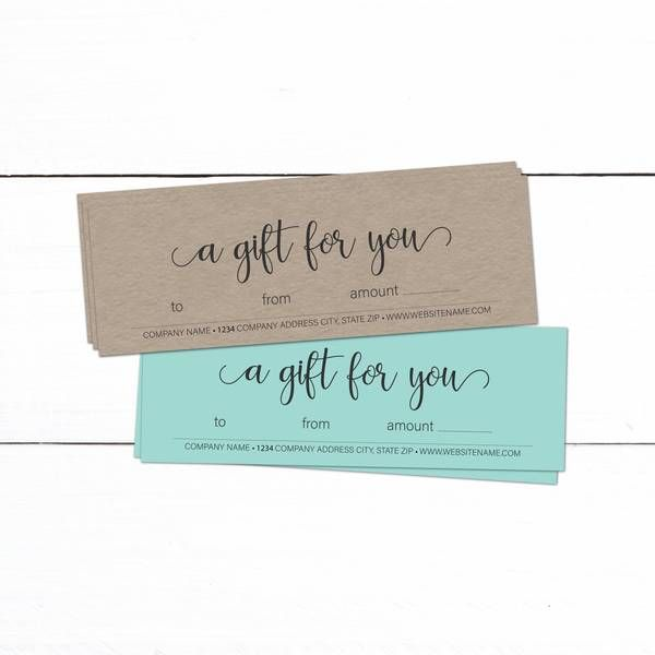 Kraft Gift Certificate Template Business Gift Certificate