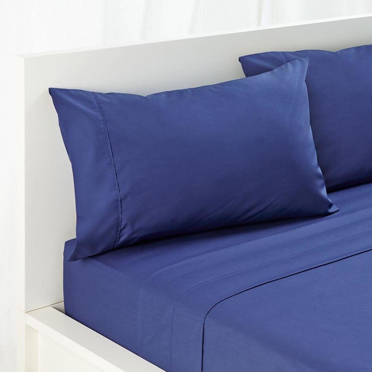180 Thread Count Sheet Set   King Single Bed, Mid Blue | Kmart  #DoubleBedSheets