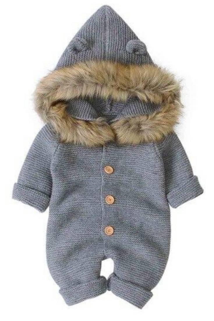 Photo of Bear Hooded Long Sleeve Overall