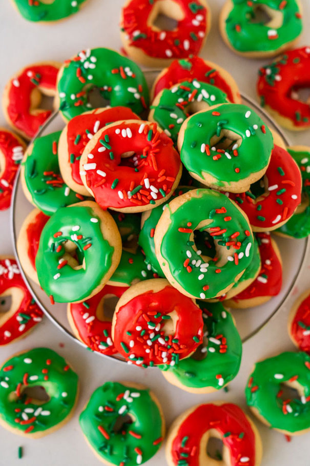 Christmas Donut Cookies Recipe Cookie Recipes Christmas Donuts Cute Christmas Cookies