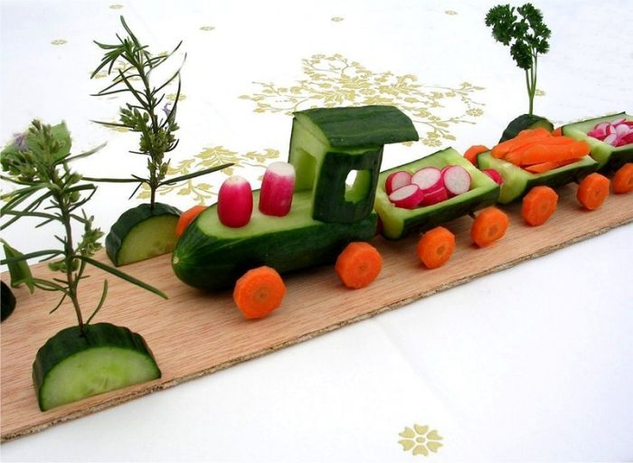Train from vegetables