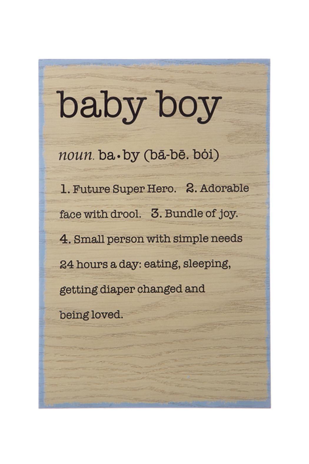 Baby Boy Definition Plaque Dimensions: 8\