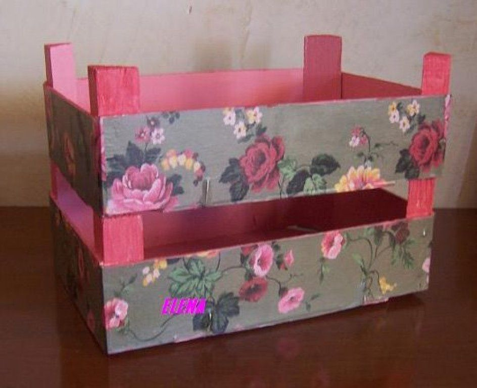 Madera de las cajas de fruta hacer bricolaje es - Cajas de fruta decoracion ...