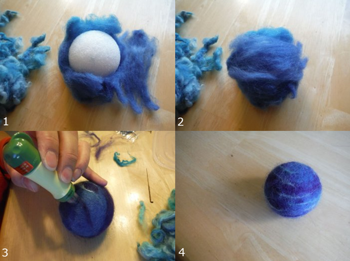 How to DIY The Solar System of wool with their own hands