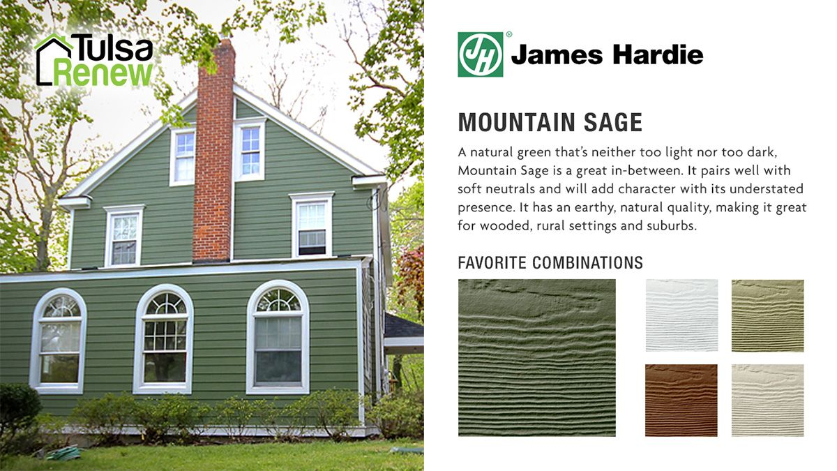James Hardie Siding Color Tulsa Renew Sage Sage Green House Green House Exterior James Hardie Siding Colors