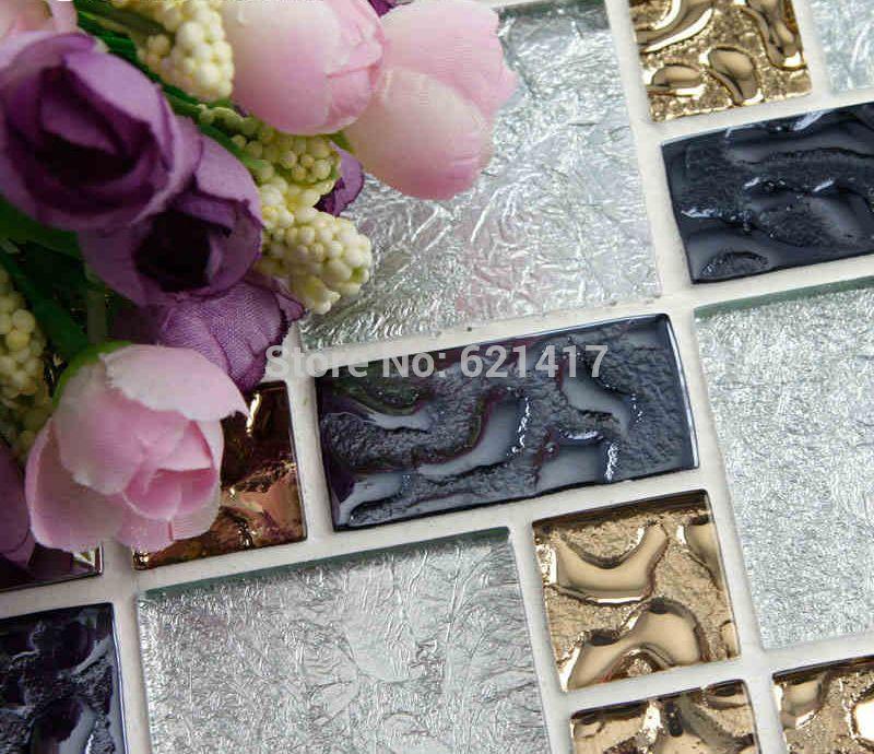Cheap Blanco de plata hoja de oro electrochapa HMGM1097 azulejos de ...