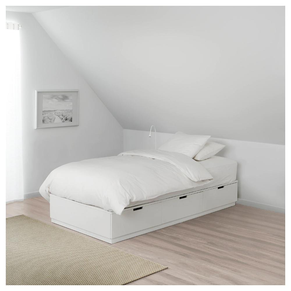 Nordli Bettgestell Mit Schubladen Weiss Ikea Deutschland Bett Lagerung Bettgestell Ikea Bett Mit Schubladen