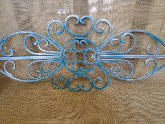 Hey, I found this really awesome Etsy listing at https://www.etsy.com/listing/190010823/shabby-chic-aqua-blue-silver-metal