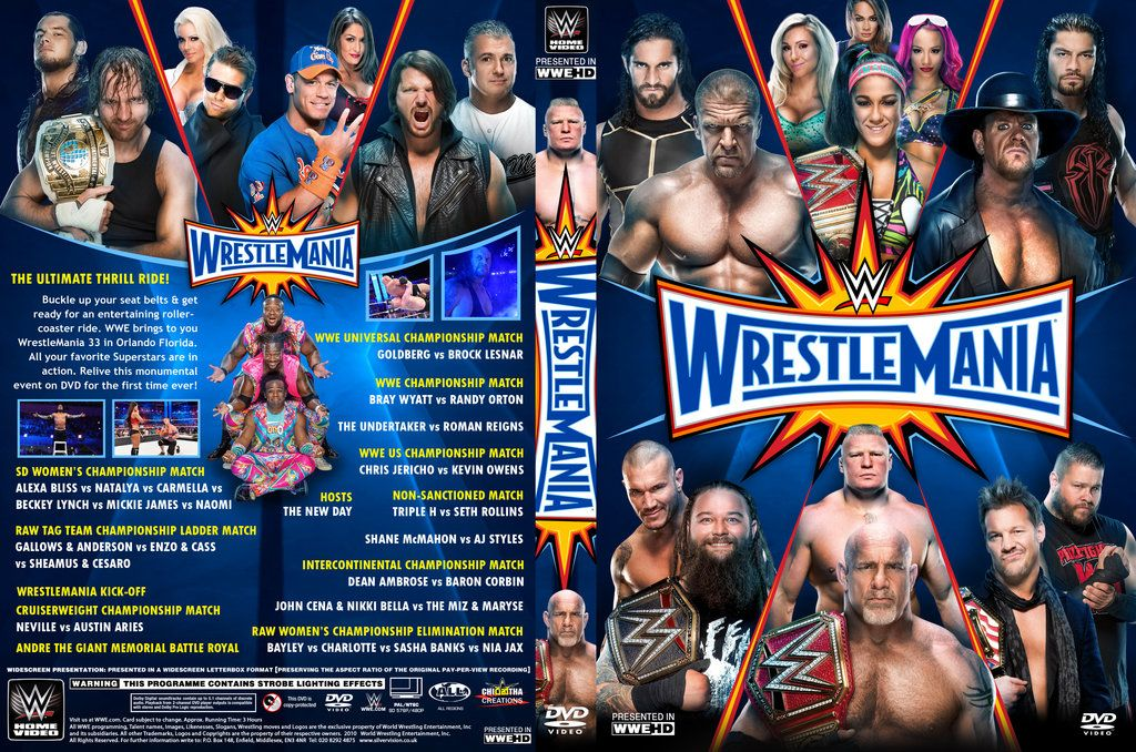 WWE WrestleMania 33 DVD Cover by Chirantha
