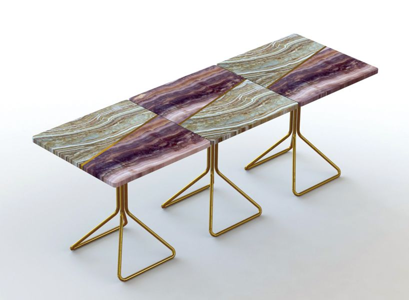 francesco meda split marble table