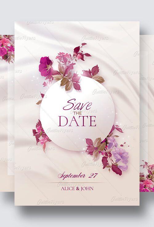 Wedding Invitation Flyer Templates Psd