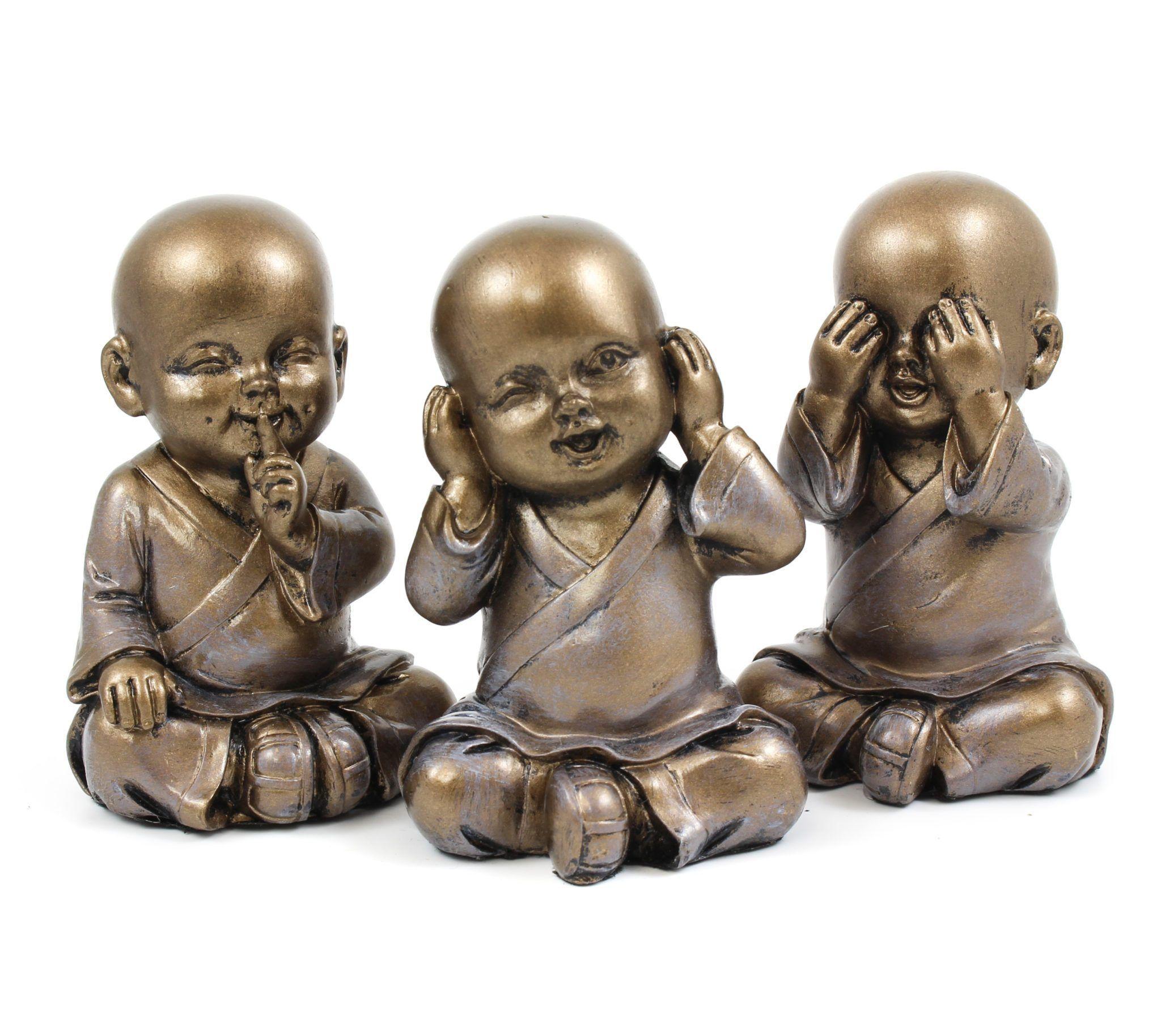 See No Evil Hear No Evil Speak No Evil Baby Monk Bronze Speak No Evil Hear No Evil See No Evil Buddha Statue Futuristic Interior