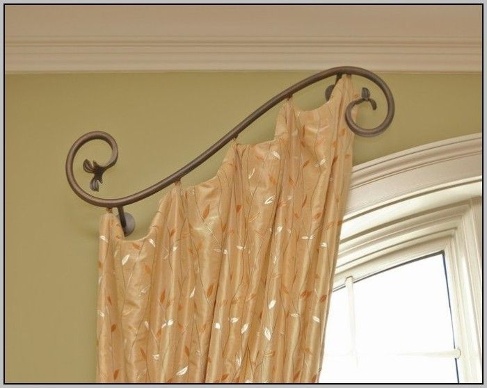 Door Curtain Rod Swing Arm Curtains Home Design Ideas