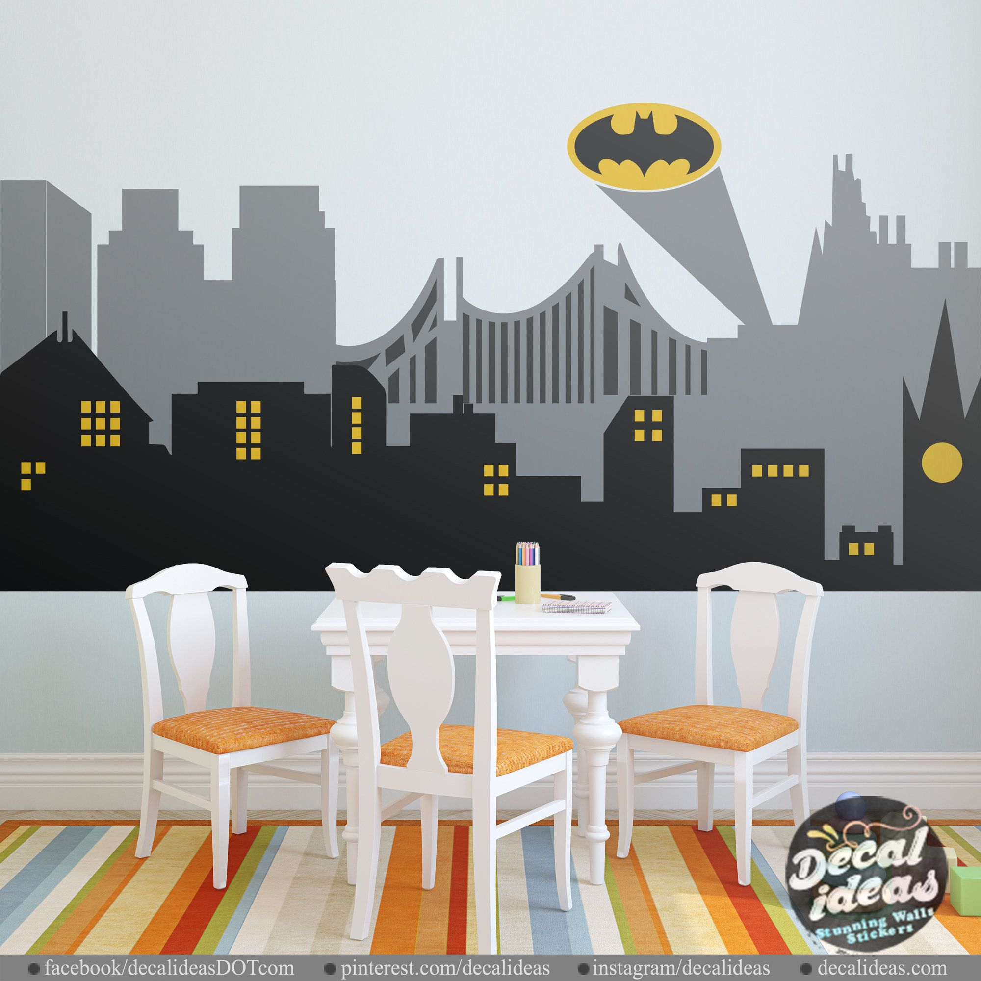 Superhero Wall Decals Batman Wall Decal Avengers Wall Decals Peel And Stick Wall Decals Printed Marvel Wall Superhero Wall Decals Superhero Wall Batman Wall