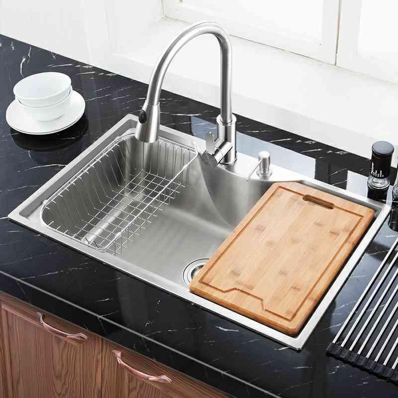 Modern Kitchen Sink Overmount 304 Stainless Steel Single Bowl Kitchen Washing Sink Mf7848b Kitchen Sink Sizes Best Kitchen Designs Kitchen Design
