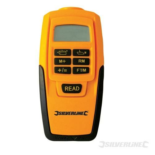 This Silverline digital range measure calculates area and volume in - tools to measure volume
