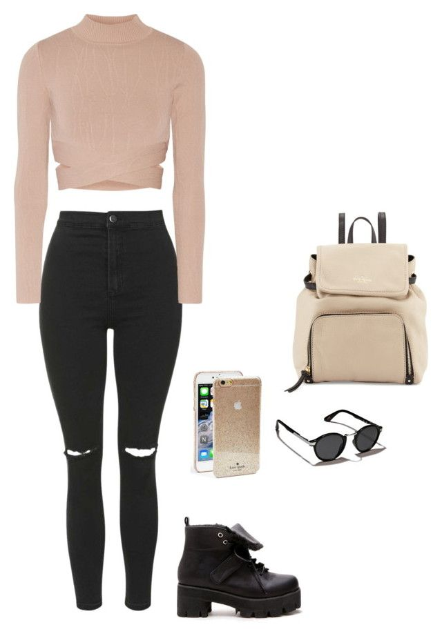"""""""Sin título #153"""" by lulu-behappy ❤ liked on Polyvore featuring Topshop, Jonathan Simkhai, Kate Spade and Abercrombie & Fitch"""