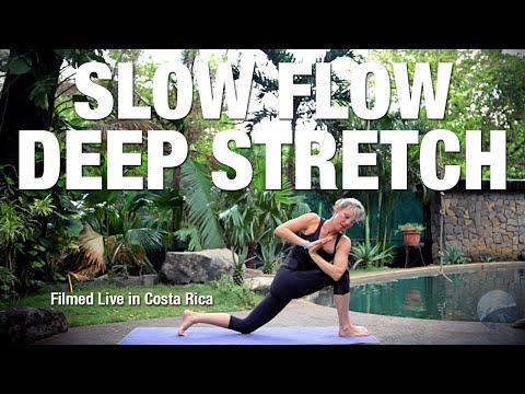 medium flow deep stretch yoga class live  five parks