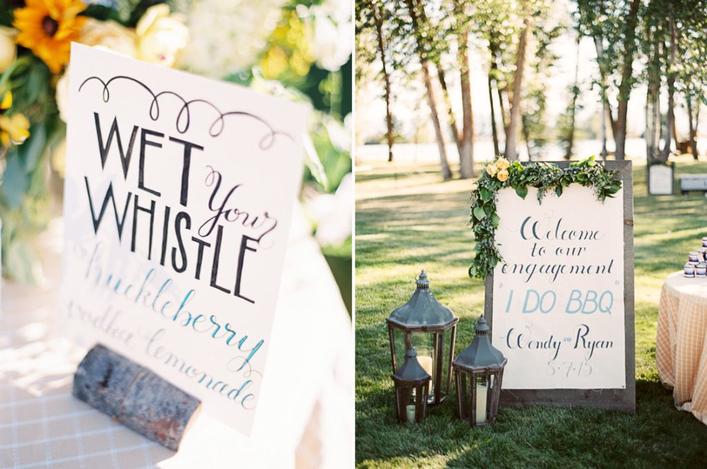 Great rustic signage style