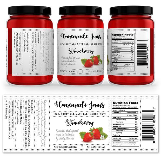 Strawberry Jam Label Template HttpWwwDlayoutsComTemplate