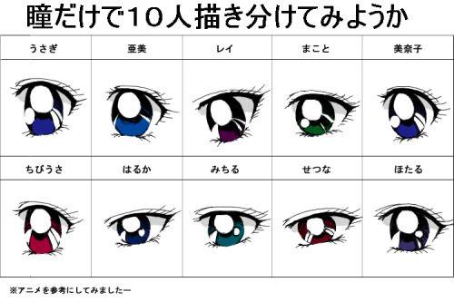 Sailor Moon Character Eyes Study Cosplay Pinterest Sailor Moon